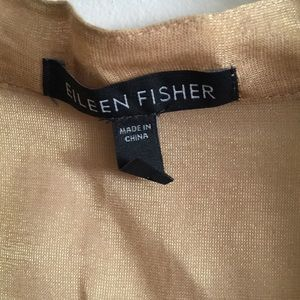 Eileen Fisher Tops - Eileen Fisher Golden Tan Long Sheer M Cardigan